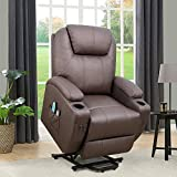 Flamaker Power Lift Recliner Chair PU Leather for Elderly with Massage...