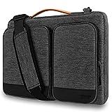 Alfheim 14 Pulgadas Funda para portátil Maletín, Impermeable Ligero Bolsa de Hombro, Protectora 360° Compatible con el Nuevo MacBook Pro de 15 Pulgadas USB-C A1990 A1707 (Gris Claro)