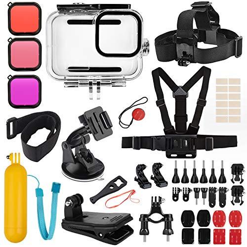 Deyard Kit Accessori per GoPro Hero 9 Black, Set di Accessori per Hero 9 Black, Custodia Impermeabile + 3 Filtri Adatti per GoPro Hero 9