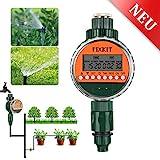 FIXKIT Neue Bewässerungscomputer, Digitaler Wassertimer, Bewässerungsuhr IP68 Wasserdichter LCD Bildschirm, Bewässerungsprogramme bis zu 30 Tagen, ideal zur Blumenbewässerung, Rasenbewässerung usw