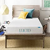 LUCID 8 Inch Gel Infused Memory Foam Mattress - Medium Firm Feel - CertiPUR-US Certified - 10-Year warranty - Twin