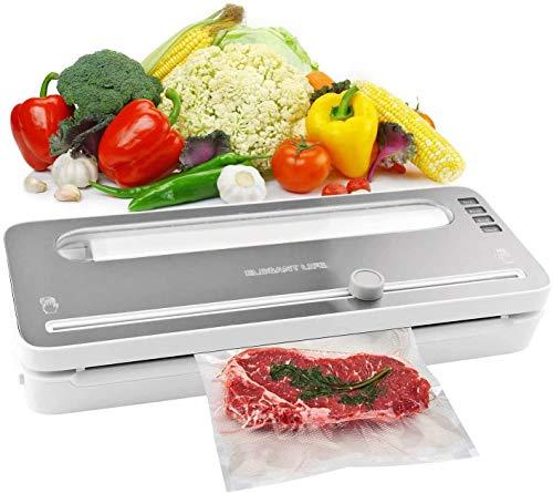 Elegant Life - Macchina sottovuoto automatica, per sottovuoto automatica, per alimenti, sistema automatico di sigillatura dell'aria sottovuoto, modalit alimenti secchi e umidi.