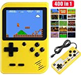Etpark Handheld Game Console, Retro Mini Game Machine with 400 Classical FC Games and 2.8-Inch Screen, Support Play on TV and Two Players, 800mAh Rechargeable Battery, Present for Kids and Adults