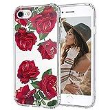 MOSNOVO Coque iPhone Se 2020/iPhone 8/iPhone 7, Roses Rouges Flower Fleur Clair...