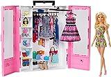 Barbie Fashionistas Le Dressing de Rêve rose et poupée blonde, fourni...