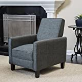 Christopher Knight Home Lucas Recliner Club Chair, Slate