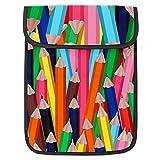 13.4 pulgadas caja del ordenador portátil Messenger Bag Unisex manga del ordenador portátil Tablets Bolsas Tablet bolso PC maletín Bolsas de viaje colorido multicolor lápices