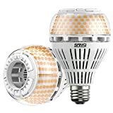 SANSI 250W Equivalent A21 LED Light Bulb, 4000 Lumens E26 LED Bulb with Ceramic Technology, 3000K Soft Warm Non-Dimmable, 25,000-Hour Lifetime, Efficient Safe, 2 Pack 27W Energy Saving for Home Garage
