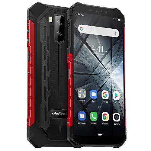 Ulefone Armor X3 (2019) Outdoor Handy (5,5 Zoll Display, 32GB interner Speicher, 5000mAh Akku, IP68 Smartphone Wasserdicht Stoßfest Staubdicht, Dual SIM/Kompass/GPS/WiFi/Bluetooth) Rot