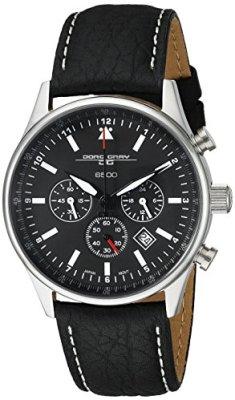 Jorg Gray Men's JG6500 Analog Display Quartz Black Watch