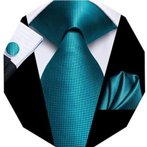Dubulle Mens Silk Necktie and Hanky Cufflinks Set