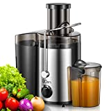 """Juicer Machine, Centrifugal Juicer Extractor with Wide Mouth 3"""" Feed Chute for Fruit Vegetable,..."""