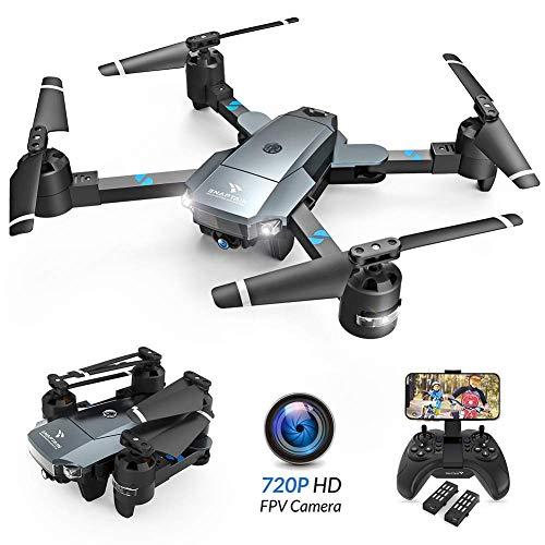 SNAPTAIN A15H Drone Pliable avec Caméra HD 720P 120° Grand Angle WiFi FPV avec Vol de Trajectoire, 3D VR, Mode sans Tête, 360°Flips et Maintien de l'altitude Maniable pour Les Débutants et Les Enfants
