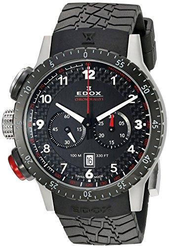 EDOX Unisex-Armbanduhr EDOX RALLY INSTRUMENTS CHRONORALLY 1 Chronograph Quarz Kautschuk 10305 3NR NR