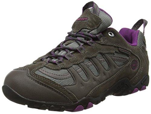 Hi-Tec Penrith Low Waterproof, Zapatillas de Senderismo Mujer, Gris (Charcoal/purple), 38 EU (5 UK)