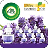 Air Wick Plug in Scented Oil 10 Refills, Lavender & Chamomile, Eco Friendly, Essential Oils, Air Freshener