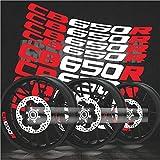 BLOUR Nuevas Pegatinas Reflectantes de llanta de neumático modificadas para Motocicleta, calcomanías Creativas con Logotipo de Rueda para Honda CB650R CB 650r Pegatina de Moto