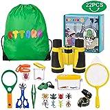 UTTORA Jumelles Enfant,Loupe Enfant,Kit Exploration d'enfants Jouets...