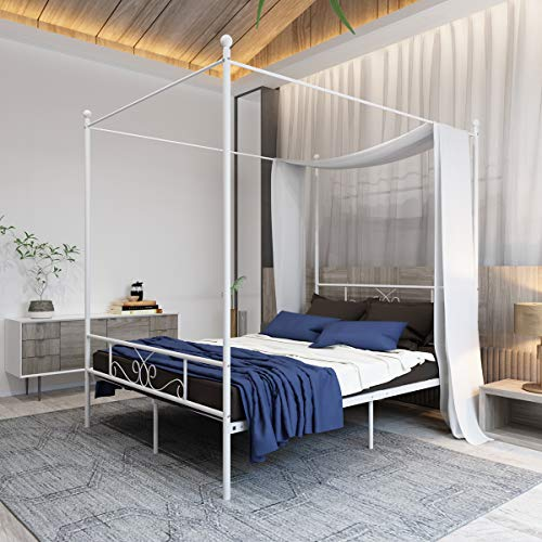 modern canopy bed cheap