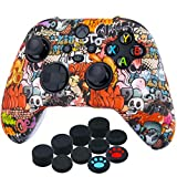 YoRHa Transer Printing Silicone Thickened Cover Skin Case for Xbox Series X/S Controller x 1(Skull...