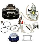 BLACKHORSE-RACING Cylinder Carburetor Air Filter Cleaner Top End Kit Fit for Yamaha Blaster 200 YFS200
