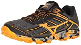 Mizuno Women's Wave Hayate 3 Trail Runner, Dark Shadow/Tangerine Tango, 6.5 B US