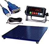 PEC Scales Warehouse Heavy Duty Industrial Pallet Floor Scale with Digital Display Indicator (48x60)
