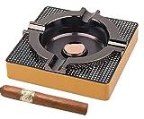 Cigar Ashtray Metal Outdoor Cigar Cigarette Ashtray for Patio/Home/Table Modern Ashtrays -(Square,Alloy)