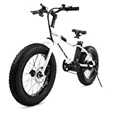 """Swagtron EB-6 Bandit E-Bike 350W Motor, Power Assist, 4"""" Tires, 20"""" Wheels, Removable 36V Lithium Ion Battery, Dual Disc Brakes– Electric Bike 7-Speed SIS Shifting Built for Trail Riding"""