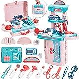 Buyger 3 en 1 Maletin Medicos Juguete Kit de Doctora Enfermeras Accesorios Juegos de rol para 3 4 5 Años Niños Niñas