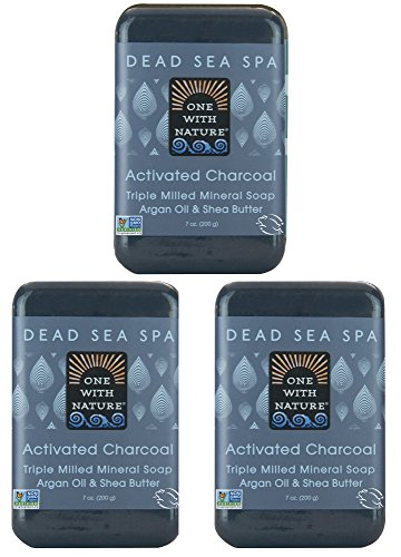 DEAD SEA Salt CHARCOAL SOAP 3 pk – Activated...