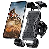 Bike Phone Mount, All-Round Adjustble Motorcycle Phone Mount, Bike Phone Holder for Handlebars Fits iPhone 12 Pro Max/11 Pro/XR/XS MAX,Galaxy S20/S10/Note 10 and All 4.7-6.8inches Devices