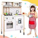 Tiny Land CocinaJuguete para niños con 18 Accesorios de Comida y Utensilios de Cocina de Juguete...