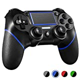 PS4 Controller ORDA Wireless Gamepad for Playstation 4/Pro/Slim/PC and Laptop with Motion Motors and Audio Function, Mini LED Indicator, USB Cable and Anti-Slip - Blue