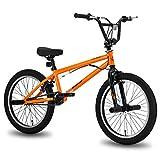 Hiland 20 Inch Kids Bike BMX Bicycles Freestyle for Boys Teenagers Orange