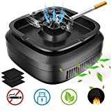 GESPERT Multifunctional Smokeless Ashtray for Cigarette Smoker, USB Rechargeable Smoke Grabber Ash Tray for Indoor Outdoor Home Office Car (Upgrade)
