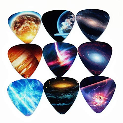 10pcs Colorful Musical Accessories Universe Planet Guitar Picks Mixed Plectrum New year's Gift - 0.46 rycnet