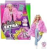 Barbie Extra poupée articulée blonde au look tendance et oversize, avec...