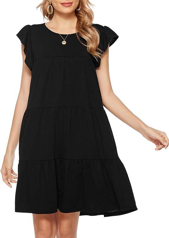 black simple dress, beautiful summer dresses 2021