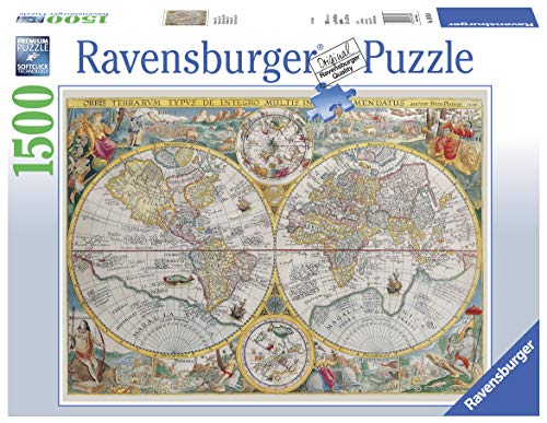Ravensburger- Mappamondo Storico Puzzle, Multicolore, 16381