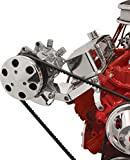 Billet Specialties 11421, Polished Sanden AC Compressor Bracket, Side Mount, SBC, Long WP, Billet Specialties, Southwest Speed, SWS Auto Part # BSI-11421