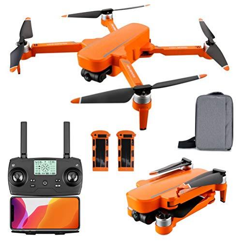 ANAN Drone RC GPS Pieghevole, 6K GPS Drone con Telecamera HD, Trasmissione WiFi 5G, 1000m di Distanza del Telecomando, Gimbal Auto stabilizzante a 2 Assi, per 60 Minuti Volo,Arancia