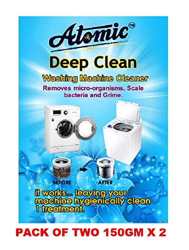 Atomic Washing Machine Cleaner Powder for Perfectly Cleaning of Tub/Drum -[Tested By ACPL LONDON] 150 GM X 2=300 GM