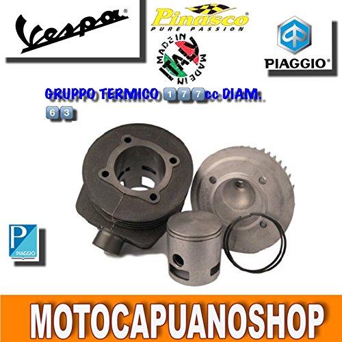 MODIFICA GRUPPO TERMICO PINASCO 177 DM.63 VESPA PX 125 150 ARCOBALENO 7 travasi