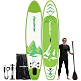 12'x32'x6', 396 lbs Capacity, All-around Inflatable Stand-up Paddle Board - SUP for All Skill Levels, Recreational Paddling, Yoga, Fishing, Touring, iSUP Accessories & Carry Bag Included (Green)