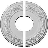 Ekena Millwork CM12JA2 Jackson Ceiling Medallion, 12 1/4'OD x 4'ID x 1 1/8'P (Fits Canopies up to 7 3/8'), Factory Primed