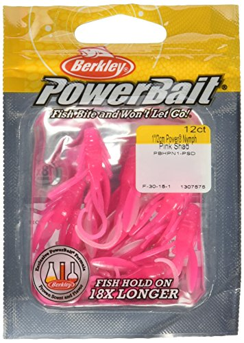 PowerBait FW Power Nymph - Esca da pesca, PBHPN1-PSD, Rosa Shad