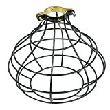 Rustic Design Industrial Look Sphere Pendant Lamp Cage by ArtifactDesign Black