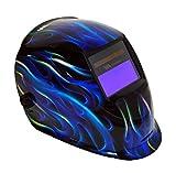 Weldmark Variable Shade Auto-Darkening Welding Helmet - BLUE FLAMES BF8VS9-13