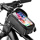 YEHOBU Bike Phone Front Frame Bag, Waterproof Mountain Bike Phone Handlebar Mount Top Tube Bag Holder Case Cycling Accessories Pouch for iPhone 11/12XS Max XR Fit 6.5 (6.5 INCH)